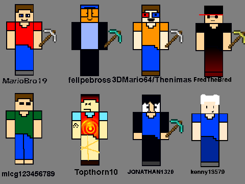 Based on minecraft characters by kenny13579