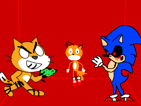 Scratch.exe,Sonic.exe, and the tails doll remix on Scratch