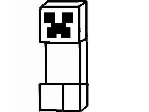 Minecraft creeper coloring pages for Minecraft creeper coloring page