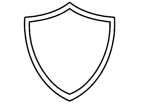 Shield Coloring Sheet Coloring Pages Shield Coloring Page