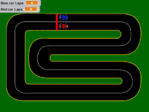 Car racing game 0 7 on scratch