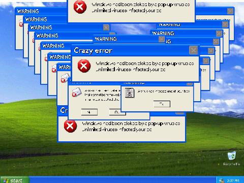 windows xp 2 crazy error