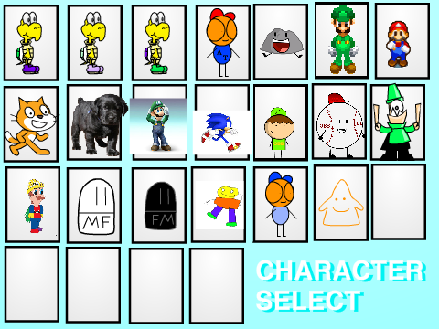 how to make a character select in scratch