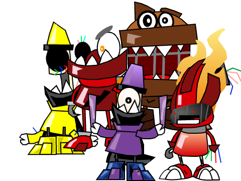 Original project fnam2 withered animatronics sprites by bl468