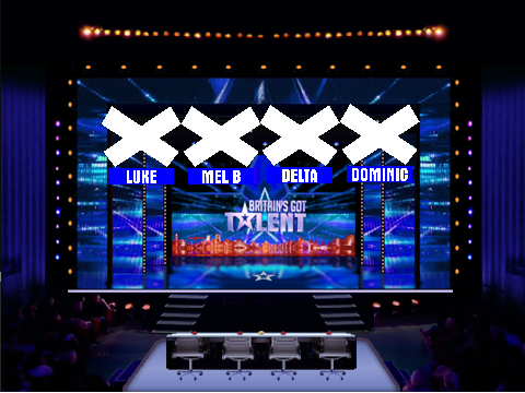 Based on: Britain's Got Talent | Stage and desk by foodbang101