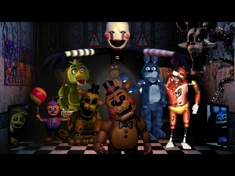 5 nights at freddys characters gmod
