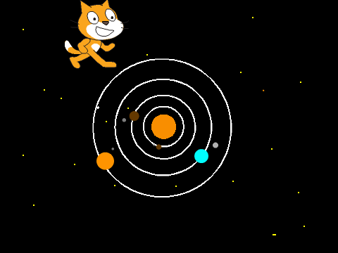 how to make a solar system in scratch
