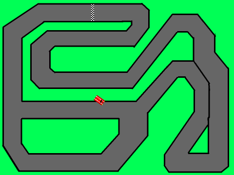 Car Track On Scratch