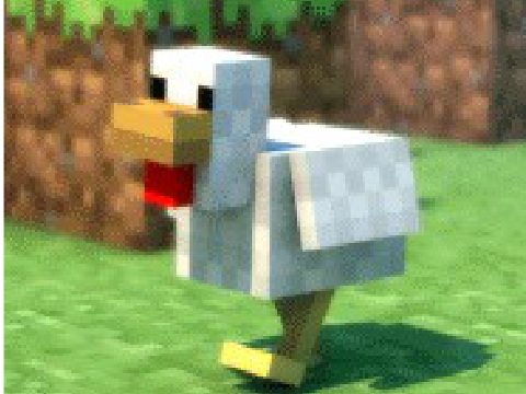Chicken Minecraft Style Dances to Minecraft Style
