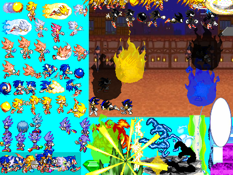 Sonic VS hyper Nazo Scene Creator V3 on Scratch