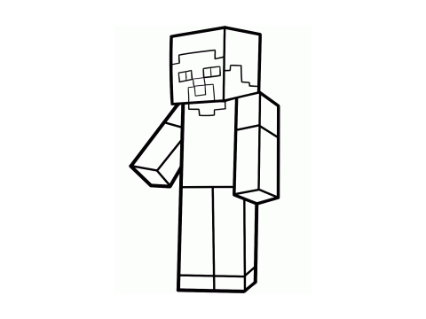 free minecraft coloring pages steve - photo#39