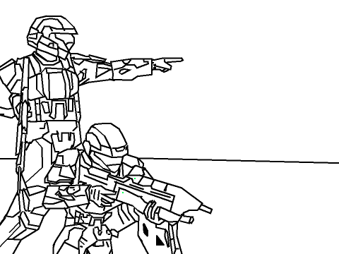 halo 3 odst coloring pages - photo#13