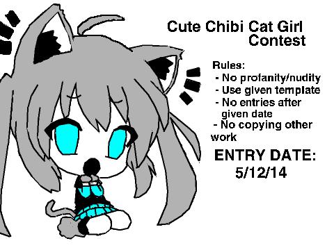 Contest  Cute Chibi Cat Girl #Aimi On Scratch Cute Cat Chibi Girl