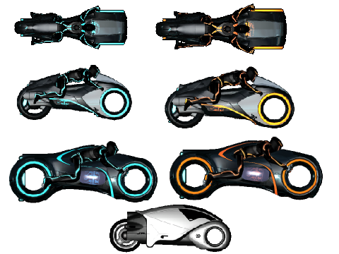 Original project tron light cycle sprite pack by jmw121 by jmw121