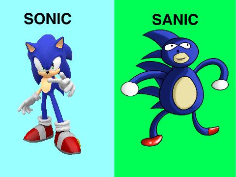 Sonic vs Sanic remix on Scratch